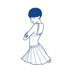 Sailor Girl wearing Uniform without a shirt. Behance Illustration Photoshop Firealpaca