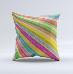 Vintage Downward Ray of Colors ink-Fuzed Decorative Throw Pillow from DesignSkinz