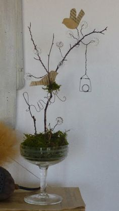Check out site for other wonderful ideas with wire and birdies