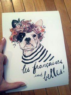 Giclee prints are now available https://www.etsy.com/listing/122204872/french-bulldog-archival-8-x-10-giclee  Source: elissaparenteillustration