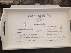 Tray with apple pie recipe @ Intratuin €14,95 Dienblad met appeltaartrecept.