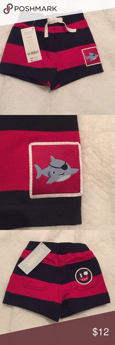 NWT baby boy shorts Very cute! NWT nautical shorts from Gymboree. Gymboree Bottoms