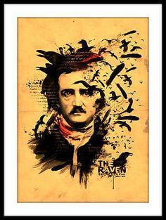 Edgar Allan Poe 11x14 Print Framed Art Decor The Raven