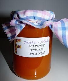 Karotten-Kürbis-Orangen-Marmelade