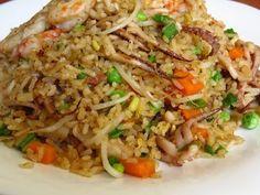 Risotto Recipes, Rice Recipes, Seafood Recipes, Cooking Recipes, Italian Recipes, Mexican Food Recipes, Ethnic Recipes, Estilo Thai, Shrimp Fried Rice