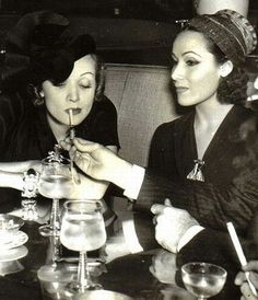 Dolores Del Rio & Marlene Dietrich Photo #vintage