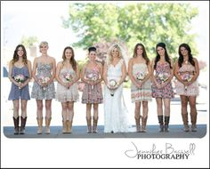 Country Chic  anything but ordinary! Sonoma County Wedding Photographer, Country Chic Wedding, Country Wedding, Cowboy boots with wedding dress, vintage wedding decor