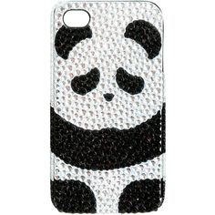 Sleepy Panda iPhone Case ($5.99) ❤ liked on Polyvore featuring accessories, tech accessories, phone cases, phones, iphone, electronics, iphone cover case, iphone sleeve case, iphone cases and wet seal