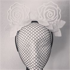 "{INTRODUCING} our newest baby from the block , ""Coming up Roses"" headpiece, suitable for age 10 & up . More Colour's coming soon! We're taking all enquiries & preorders for new pieces at ~ Milena.danicaerard@gmail.com we will respond to all enquiries tomorrow morning.  Happy Sunday hat lovers ❤️❤️"