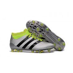 low priced 86231 f6f2b Adidas ACE 16.1 Primeknit FG AG Argent Noir Vert soldes Adidas Boots, Nike,  Football. Billige Fotballsko Salg ...