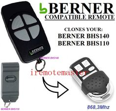 For BERNER BHS140,BHS110 garage door remote replacement #Affiliate
