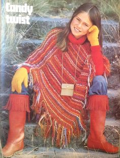 Candy Twist. Crochet poncho. Crochet Fashions For The Whole Family
