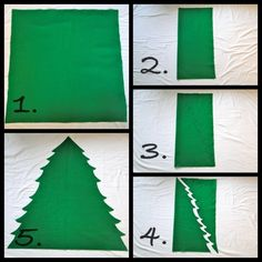 Home made felt christmas tree. Make some felt ornaments and let your kids decorate & redecorate :-)                                                                                                                                                                                 More
