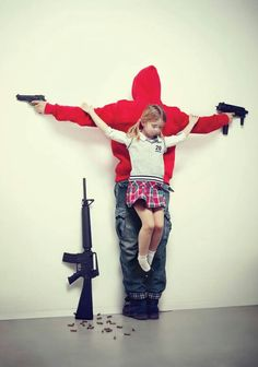 "Los Intocables ~ Erik Ravelo, 2012. Child killings because o free guns in USA. ""The right to childhood should be UNTOUCHABLE."""