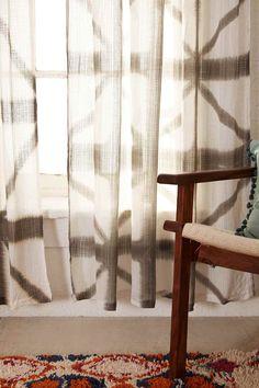 Indu Dyed Curtain in Grey