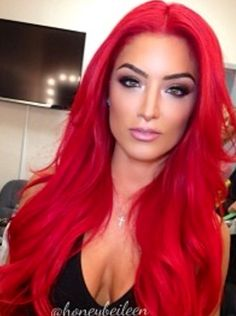 Eva marie, nice color but looks better in her natural dark hair!