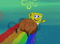 "And when this epic rainbow booty flake happened. | 36 Times ""Spongebob"" Made Absolutely No Sense At All"