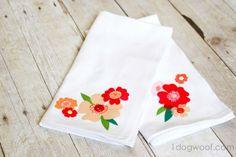 One Dog Woof: Fabric Decoupage Napkins