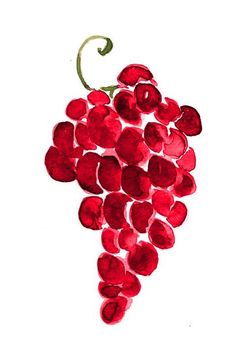 grapes- can easily be the tumb prints of your wedding guests