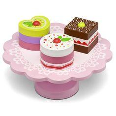 Kjøp Micki Kakefat med Bakverk | Leker Miniatyrhjem | Jollyroom Mint, Play Food, Baby Jogger, Aesthetic Food, Wood Design, Coasters, Barn, Iphone, Desserts