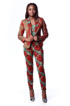 ankara print Suit