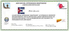 Martianos. Arthur González. Reconocimiento Comunicador Destacado 2016