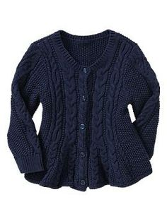Cable peplum cardigan Must get for Olive so cute!