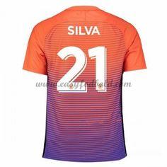 Fodboldtrøjer Premier League Manchester City 2016-17 Silva 21 3. Trøje