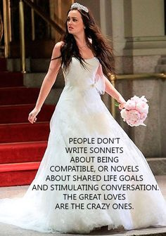 "Blair Waldorf -- there's some truth no one wants to admit. I think goes hand in hand with ""it's the drama in life that makes us strong."""
