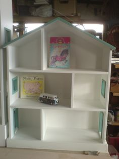 Small Handmade Childrens Nursery Dolls House Bookcase Shelves 65 00 From Uk On Folksy