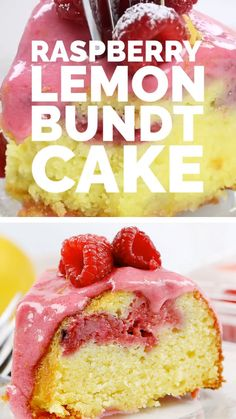 Baking a beautiful Raspberry Lemon Bundt Cake with the freshest and most flavorful ingredients is a must this summer! Bundt Cake Glaze, Glaze For Cake, Best Lemon Bundt Cake Recipe, Strawberry Lemonade Bundt Cake Recipe, Strawberry Glaze Recipe For Cake, Lemon Rasberry Cake, Strawberry Pretzel, Strawberry Smoothie, Food Cakes