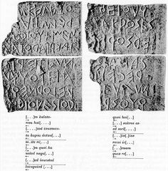 Early Latin inscription found on the so-called lapis niger in the Roman Forum; Latin Language, Roman Forum, Ancient Rome, Archaeology, Latina, Italy, History, Books, Italia