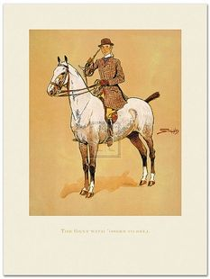 The Gent with 'Osses to Sell, Equestrian Art Print by Snaffles Snaffles - Art Prints - By Rosenstiel's at Horse and Hound Gallery