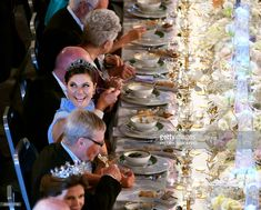 Sweden's Crown Princess Victoria reacts during the 2017 Nobel Banquet for the laureates in medicine, chemistry, physics, literature and economics in Stockholm, on December 10, 2017. / AFP PHOTO / TT News Agency / Fredrik Sandberg / Sweden OUT