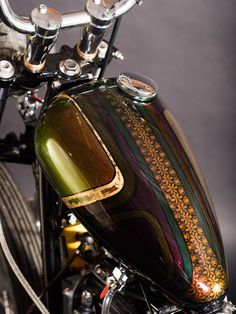 Fuck Your Heroes / motor / motorcycles Custom Choppers, Custom Motorcycles, Custom Bikes, Custom Motorcycle Paint Jobs, Custom Paint Jobs, Pinstriping, Motorcycle Tank, Motorcycle Style, Rock And Roll