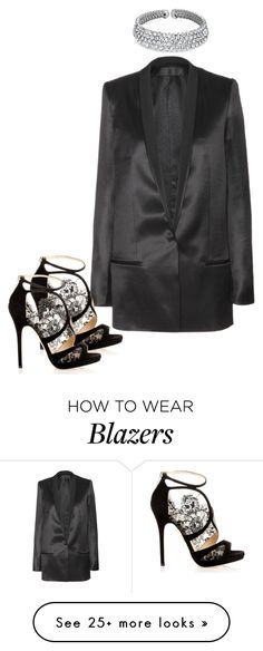"""RiRi x Dancing Diamonds"" by yourmajestyjordine on Polyvore featuring Haider Ackermann, Jimmy Choo and Bling Jewelry"