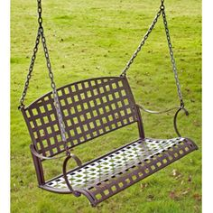 Give your home a classical touch with the Sante Fe Nailhead swing. The yard swing is suspended by an included sturdy chain.