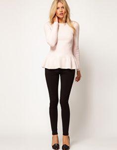Peplum and black pants