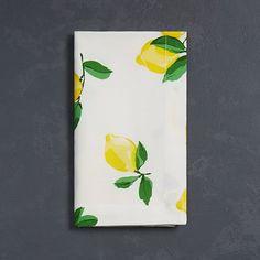 Lemon Print Napkins
