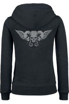 Black Premium Skull hoodie ~ EMP