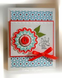 Stampin UP Quint-essential Flower Card