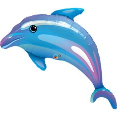Dolphin SuperShape Foil Balloon  (Birthday Direct)