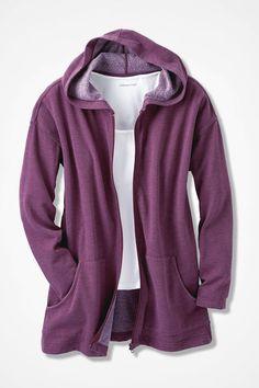 Colorwashed Fleece Full-Zip Jacket - Coldwater Creek