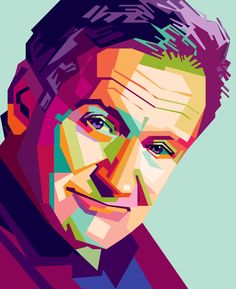Robin Williams in WPAP (Wedha's Pop Art Potraits) pop art style. Description from openclipart.org. I searched for this on bing.com/images