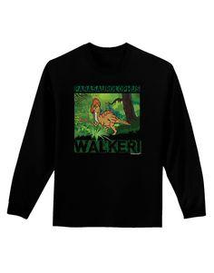 TooLoud Parasaurolophus Walkeri - With Name Adult Long Sleeve Dark T-Shirt