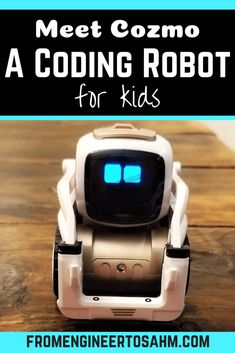 Meet Cozmo, a coding Robot for kids! Not only will kids learn how to block code, but they will also fall in love with his adorable personality! Math Activities For Kids, Steam Activities, Hands On Activities, Cool Science Experiments, Stem Science, Play Based Learning, Kids Learning, Learning Tools, Cozmo Robot