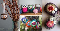 Inspirace na krásné háčkované sovičky pro děti i jako dekorace