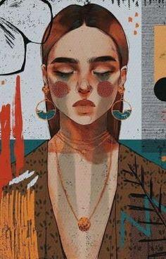 Illustration Art, Illustrations, Arte Sketchbook, Art Drawings Sketches, Aesthetic Art, Cartoon Art, Cute Art, Art Inspo, Painting & Drawing