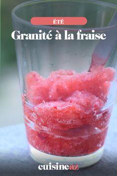 Le granité à la fraise est une bonne alternative végan à la glace.  #recette#cuisine#granite#fraise #glace Sorbets, C'est Bon, Alternative, Cocktails, Peach, Candy, Food, Frozen Desserts, Vegetable Tian