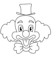 Joker Face Drawing For Children